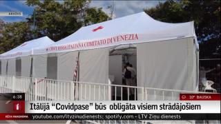"""Itālijā """"Covidpase"""" būs  obligāta visiem strādājošiem"""