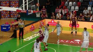 Pārbaudes spēle basketbolā Latvija 91 : 84 Slovākija