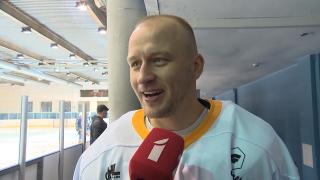 Latvijas hokeja Virslīga. HS «Rīga» - HK «Olimp/Venta 2002». Kaspars Saulietis