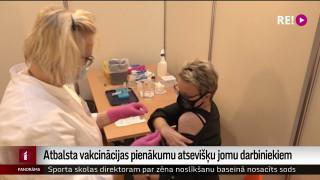 Atbalsta vakcinācijas pienākumu atsevišķu jomu darbiniekiem