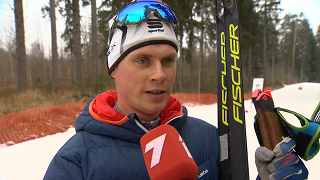 Latvijas čempionāta posms distanču slēpošanā. Indulis Bikše