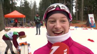 Latvijas čempionāta posms distanču slēpošanā. Līva Šahno