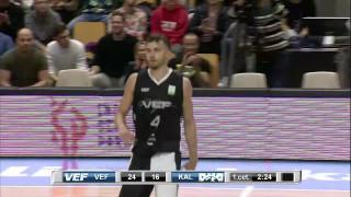 """Latvijas – Igaunijas basketbola līga. """"VEF Rīga"""" 86:84 Tallinas """"Kalev"""""""