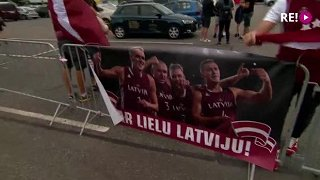 Latvijas 3x3 basketbola izlases sagaidīšana