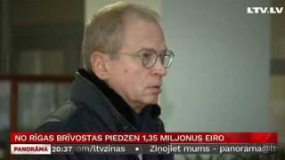 No Rīgas brīvostas piedzen 1,35 miljonus eiro