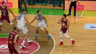 Pārbaudes spēle basketbolā Latvija - Slovākija