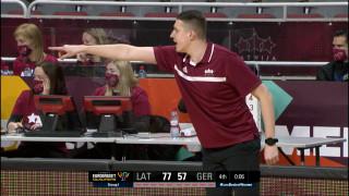 EČ atlases spēle basketbolā sievietēm. Latvija 78:57 Vācija
