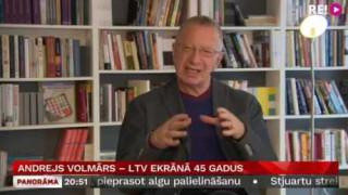 Andrejs Volmārs – LTV ekrānā 45 gadus