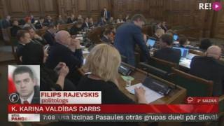 Telefonsaruna ar politologu Filipu Rajevski par K. Kariņa valdības darbu