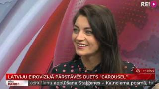 Intervija ar grupas «Carousel» dalībniekiem Sabīni Žugu un Mārci Vasiļevski