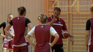 Latvijas sieviešu basketbola izlases treniņš