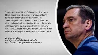 Dāmu basketbola izlases treneris Gundars Vētra
