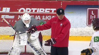Latvijas hokeja izlase aizvada trīs dienu treniņnometni