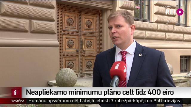 Neapliekamo minimumu plāno celt līdz 400 eiro