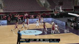 EČ atlases spēle basketbolā sievietēm. Latvija - Vācija